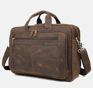 Maheu Vintage Leather Men Borsa in vera pelle Laptop Laptop Borsa Cartella Borsa Real Cowskin Business Handbag Mens Maschio Portfolio1