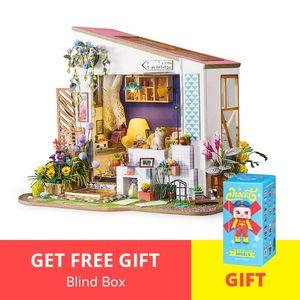 مصغرة لDG11 اليدويه منزل خشبي الجمعية اللعب تاريخ الميلاد دمية Robotime نموذج دمية بناء أطقم هدايا الكبار bbyjRh homebag