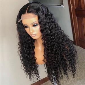 Кудрявые 5х5 «» Silk Top фронт шнурок человеческих волосы Парики для чернокожих женщин Remy бразильских Малазийские Preplucked волос младенец отбеленных узлы
