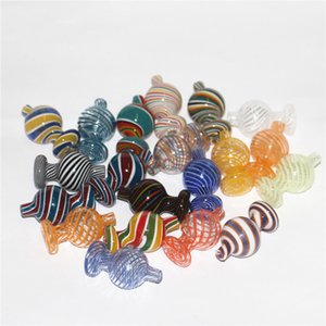 New Design Carb Cap Colorful Glass Bubble Ball Glass caps For Beveled edge quartz banger dab rig glass water bong