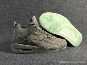 Jumpman 4 Cool Grey White Man Basketball Designer Обувь специальное издание IV замшевые моды спортивные кроссовки хорошее качество поставляются с коробкой