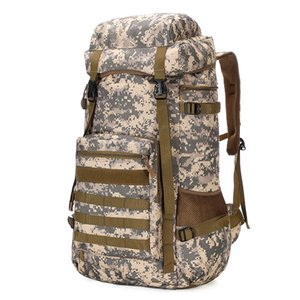 New Camouflage Canvas Large Capacity Outdoor Mens Travel Mountaineering Bag Luggage Backpack Durable Waterproof Riding Backpack