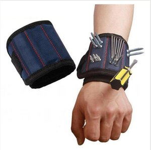 Magnetic Wristband Pocket Tool Belt Pouch Bag Screws Holder Holding Tools Magnetic Bracelets Practical Chuck Wrist Toolkit LJJP721
