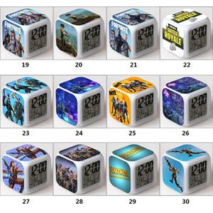 2021 Светодиодные будильники Fortnite Конкурентная стрельба Игра Красочные светящиеся электронные часы