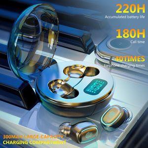 Auriculares inalámbricos A10 TWS Bluetooth 5.0 HiFi inalámbrico Auriculares in-ore con caja de carga redonda de cargas deportivas Auriculares Auriculares