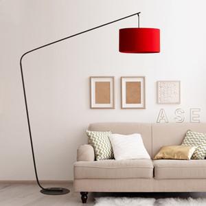 Piso Modern Lamp minimalista Ferro Candeeiros para sala de estar Estudo Nordic Decoração casa criativa Pesca Canto candeeiro de pé