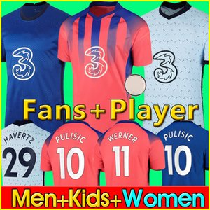 20 21 ABRAHAM Soccer Jersey WERNER ZIYECH 2020 2021 HAVERTZ PULISIC Football Shirt KANTE CHIILWELL Fans Player Version jerseys Men Kids Kit