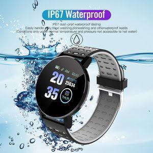 119 Plus Bluetooth Smart Watch Men Pressão arterial SmartWatch Mulheres Assiste Smart Band Sport Tracker SmartBand para Android