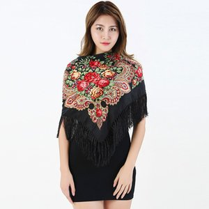 2018 Autumn and Winter New Women Large Square Scarf Tassels Thickened Printed Scarves Ladies Hot Sale Shawl