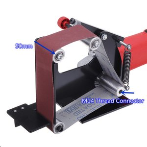 Professional Electric Iron Angle Grinder Sanding Belt Adapter 50mm Belt For 115 125 Sanding Machine Grinding Polishing Machine T200602