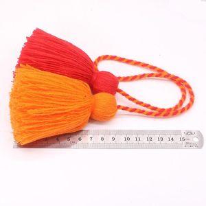 4pcs Charm Fat Tassel Fringe Pendentif Corde DIY Home Rideau Textile Artisanat Accessoires Accessoires Tassels Multicolore Frange Trim H Jllgrl