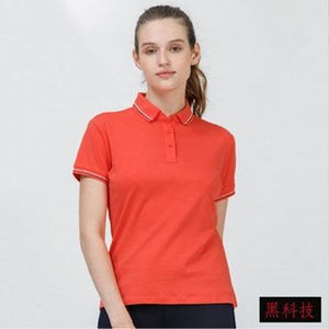 High Quality 100% cotton women T shirt POLO T-shirt Sports, leisure, business Luxurious fabrics Soft texture hang down feeling and glossy