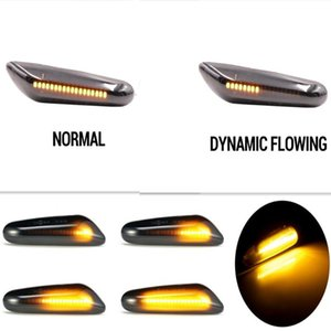 1Pair Car Turn Signal Lights Dynamic Flowing LED Indicator Blinker Lamp For E90 E91 E92 E93 E46 E60 E82 E83 E87 E88 X1 X3 X5