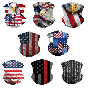 Flag Eagle Scarf 3D Masks for Men Women Scarf Headband Sports Head Scarves Washable Protective Outdoor Sport Face Mask