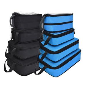 Soperwillton 2020 New Luggage Packing Cubes Compression Packing Bag Nylon Travel Bag Men Women Travel Packing Organizers #90034 LJ201104