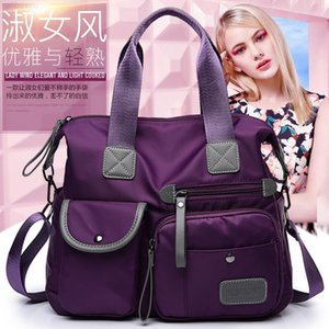 2020 Nylon cloth new women's autumn and winter waterproof solid color large capacity portable messenger bag