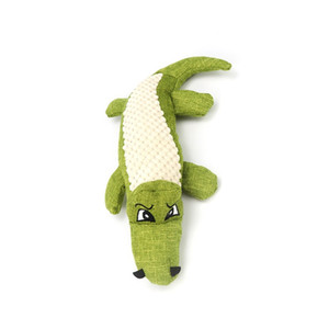 Phonation Dog Toys Simulation Crocodile Wear Resistant Toy Animal Linen Splicing Pet Interactive Supplies 3 Color New Arrival 7 5bh G2