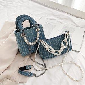 2020 nueva Pearlpearl Daifei horcajadas perla bolsa de imitación de las mujeres de moda de moda portátiles 3qGnw versátil marca uno debajo del brazo el hombro gK gKZle
