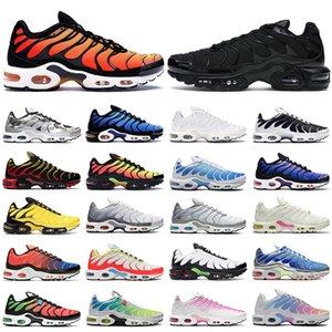 2021 nike tn air max plus shoes hommes femmes des chaussures de course formateurs triple noir blanc Hyper bleu Oreo Crater Smoke Grey Pimento hommes Sports de plein air baskets