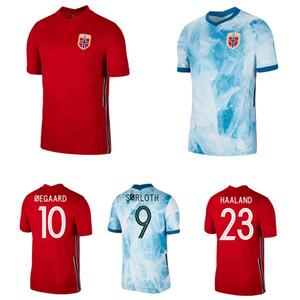 2020 2021 Norwegen Fussball Jersey 20 21 Norueuga Haaland Ödegaard Berge König Sorloth Camisetas Nationalmannschaft-Fußball-Hemd