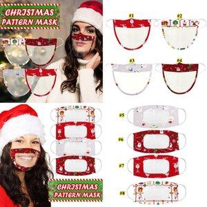 Sichtbare klare Fenster Ohne Holloop Maske Lippenlese transparente Masken Weihnachtsgesichtsmaske Lippe taub-stummgeschmeidiger taub Mundabdeckung owb2559