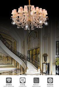 Crystal glass chandelier living room dining room bedroom chandelier light  simple new personality creative chandelier light crystal