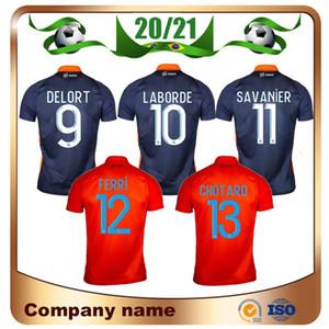 20/21 Montpellier HSC Soccer Jersey 2020 Accueil DELORT LABORDE maillot de T-shirt de pied Montpellier CAMARA Savanier manches courtes uniforme Football