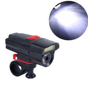 Mountain Bike Night Ride Handlebar COB Lamp Glare Black Red Bicycle Light Front Headlight Car Lights Car Accessories