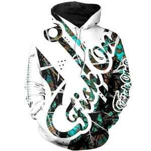 Fish on Hook Camo Muddy 3D All Over Printed Mens Hoodie Harajuku Fashion Sweatshirt Unisex Casual jacket Pullover KJ046 201022