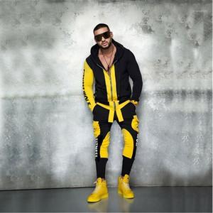 2020 осенний бренд спортивный костюм мужской костюм мужчины толстовки наборы мужские спортивные спортивные промежутки Jogger мужской трексуит комплекты спортивные спортивные