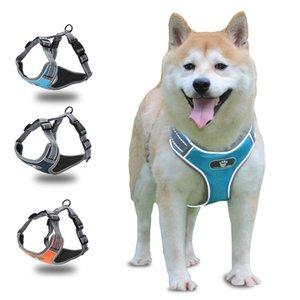 Hundegeschirr Vest Einstellbare Reflective Breathable Ineinander greifen Geschirre Für Medium Large Dog Husky-Hundeweste Geschirre