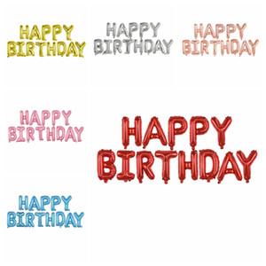 عيد ميلاد سعيد الألومنيوم احباط بالونات 16 بوصة أحرف عيد ميلاد سعيد بالونات ملون عيد ميلاد حزب ديكورات الدعائم GWE4510