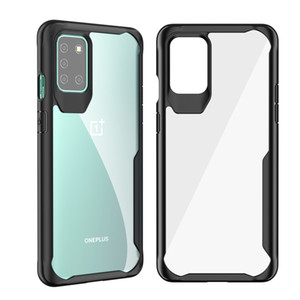 Shockproof TPU + PC Clear Phone Case for Oneplus8 8Pro 8T Hard Transparent Back Cover for Oneplus 7 Pro 7T 6 6T