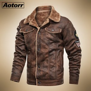 Mens Tactical Pilot Bomber Jacket Winter Warm Military Flight Jackets Male Thick Fleece Cotton Wool Liner Coat Motorcycle Parka Y1112