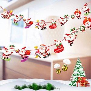 FELIZ NATAL SANTA MEIAS Pingente Bandeira Feliz Natal Bandeira de feltro de Santa Bandeiras de suspensão Decoração 3 IIPP #