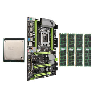 X79 Motherboard LGA2011 Combo with E5 2650 CPU 4-Ch 16GB(4X4GB) DDR3 RAM 133hz NVME M.2 SSD Slot