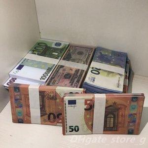Qualidade do filme Wholesale EUR Bar Play LB-096 Nightclub Faux Billet Euro Dinheiro Falso Libra Dinheiro Dinheiro Atmosfera Top Money Prop Dcpei