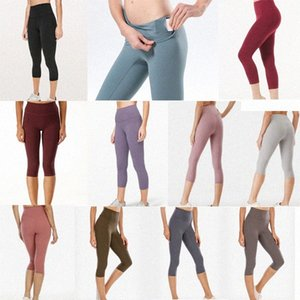 LULU High Waist 32 016 25 78 Womens Sweatpants Yoga Pants Gym Leggings Elastic Fitness LULEMOÑLady Overall Full Tights Work k3Ul#