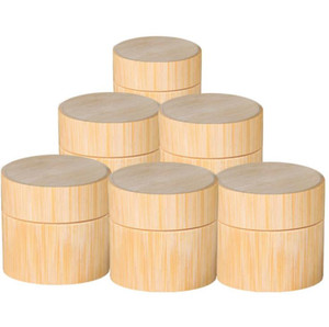 Bamboo Cream Jar PP Plastic Container 5G 10G 20G 30G 50G Empty Wooden Refillable Bottle Liquid Cosmetic Packaging Pot 100PCS SN2339