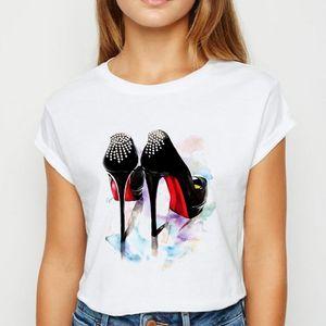 Pretty cool Oversize T-shirt de mode en vrac Vestidos Hip Hop T-shirts Graphique Harajuku Top chaussures à talons hauts T-shirts femmes