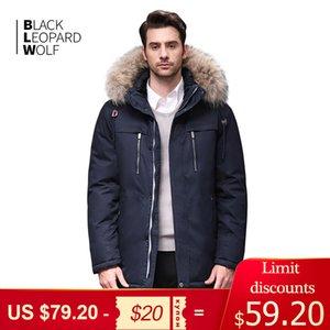 Blackleopardwolf 2019 casaco homens jaqueta de inverno fashion thik outwear destacável homens parka alaska com punhos confortáveis BL-6605M C1021