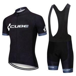 I nuovi uomini della squadra Cube Cycling Jersey Suit manica corta Bike camicia Bib Shorts Set Estate asciutto rapido Outfits bicicletta di sport Y20042401 Uniform