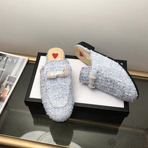 Moda femminile Comodo Slip on catena decorata mocassini decorati con tacchi a basso contenuto di almonding toe casual dayy mole a punta punta senza punta