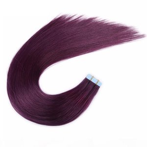 Malaysian Peruvian Brazilian Inaian Hair Tape In Human Hair Extensions 100g 40pcs Mac Makeup Extensions De Cheveux For Sale