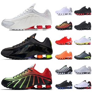 Nike shox TL Moda Büyük Beden 12 Shox 301 Kadın Erkek Ayakkabı Koşu Beyaz Gümüş Siyah Mavi Viotech neon Mens Eğitmenler Shox TL Bayan Sneakers Ayakkabı