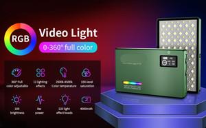 FreeShipping RGB LED Camera Light Full Color Output Video Light Kit Dimmable 2500K-8500K Bi-Color Panel Light CRI