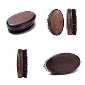 Antiguo madera barba cepillo elipse forma cerdas hombres hombres masculino afeitado pinceles multifunción interiores limpieza herramientas casero 8 5hf n2