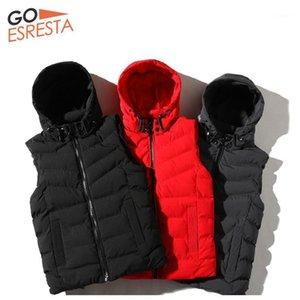 Goesresta nuevo chaleco hombres ropa de algodón moda casual cálido ultra ligero calle otoño e invierno color sólido algodón ropa Men1