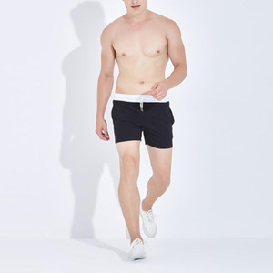 Summer Men Solid Colors Running Shorts Jogging Gym Fitness Training Quick Dry Beach Short Pants Male Sports Workout Clothing#g41
