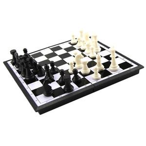 Jeu d'échecs en bois, 7,68 x 7.68inch pliant Tableau magnétique standard Jeu d'échecs en bois Set avec Set Crafted en bois Pièces